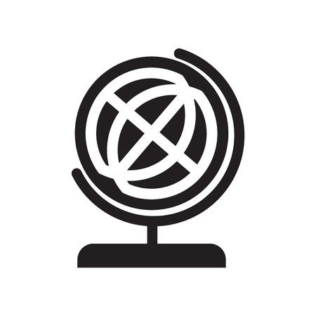 Illustration pour School globe icon vector isolated on white background for your web and mobile app design, School globe logo concept - image libre de droit