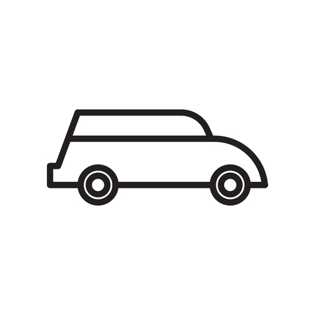 Illustration pour Car icon vector isolated on white background for your web and mobile app design, Car logo concept - image libre de droit