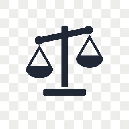 Illustration pour Scale vector icon isolated on transparent background, Scale logo concept - image libre de droit