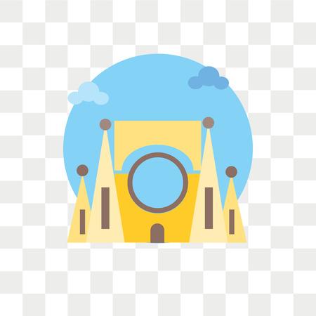 Ilustración de Sagrada familia vector icon isolated on transparent background, Sagrada familia logo concept - Imagen libre de derechos