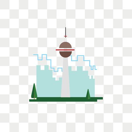 Ilustración de Cn tower vector icon isolated on transparent background, Cn tower logo concept - Imagen libre de derechos