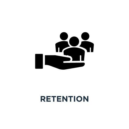 Illustrazione per retention icon. retention concept symbol design, vector illustration - Immagini Royalty Free