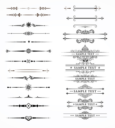 Illustration pour Vector set of decorative divider elements border - image libre de droit