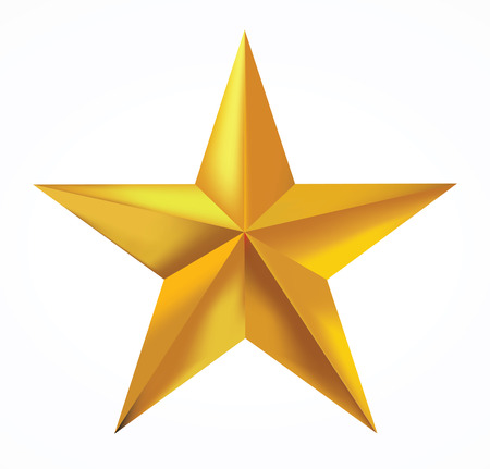 Illustration pour Gold star isolated on white background. - image libre de droit