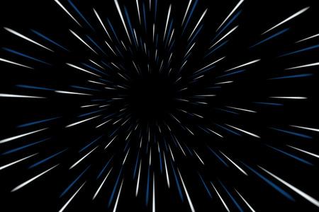 Ilustración de Warp stars galaxy vector illustration. Zoom in light speed space - Imagen libre de derechos