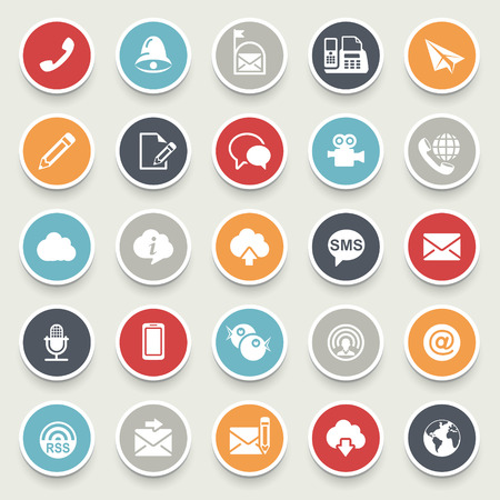 Illustration pour Communication icons. - image libre de droit