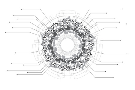 Illustration pour Infographic template design of futuristic digital graphic and data technology concept. - image libre de droit