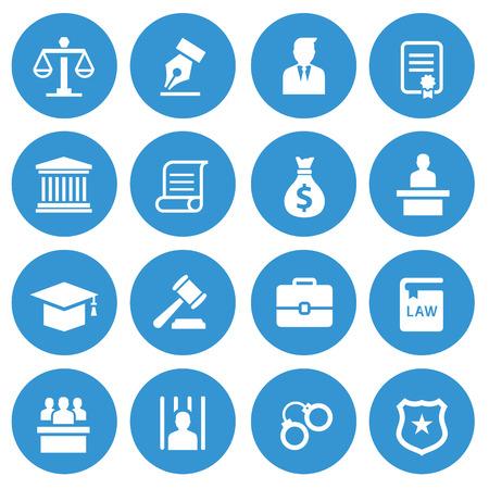 Illustration pour Law icon - image libre de droit