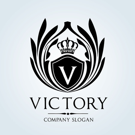 Illustration for Luxury Vintage logo - Royalty Free Image