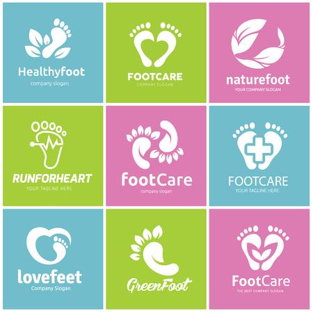 Ilustración de Foot care logo set - Imagen libre de derechos