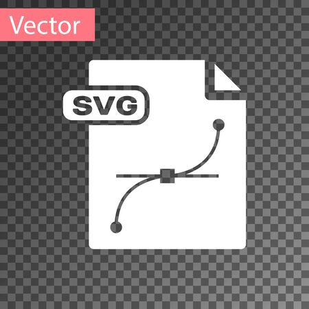 Illustration pour White SVG file document. Download svg button icon isolated on transparent background. SVG file symbol. Vector Illustration - image libre de droit