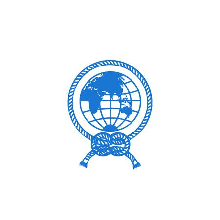 Illustration pour globe logo icon design vector illustration icon element - vector - image libre de droit