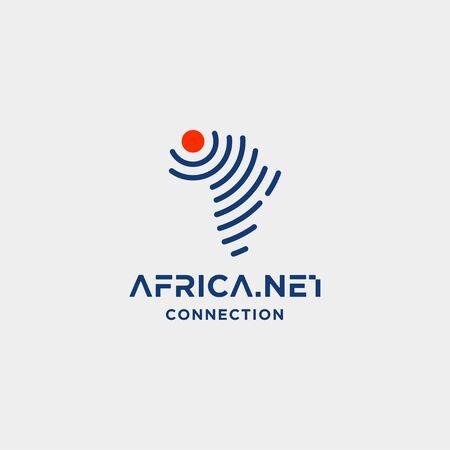 Illustration pour africa signal logo design vector internet wifi symbol icon illustration - image libre de droit