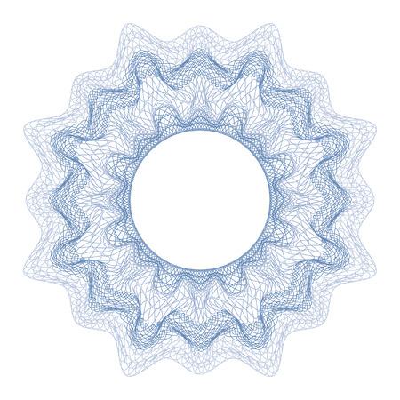 Illustration pour Guilloche decorative element for design certificate, diploma and bank note - image libre de droit