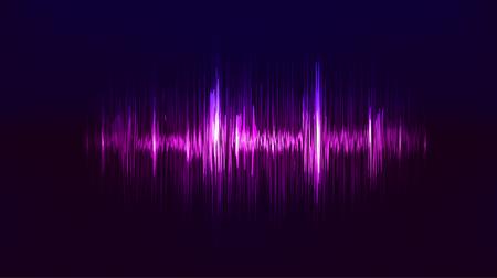 Ilustración de Vector techno background with vibration sound. Resonance. Pulse. cardiogram - Imagen libre de derechos