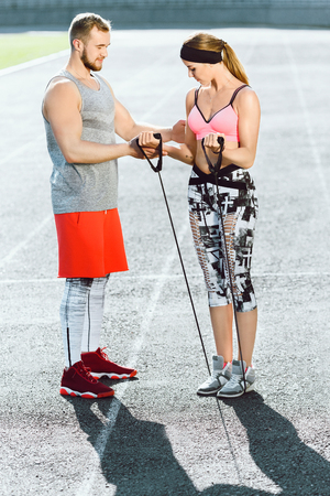 Photo for Sports coach and girl - Royalty Free Image