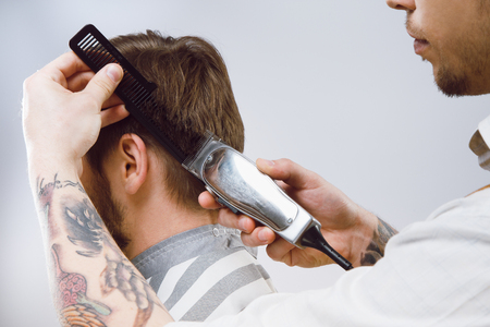 Photo for Client at barbershop - Royalty Free Image