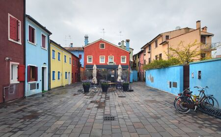 Photo for Colorfull patio in the centre of Caorle, day foto. Italy. Europe - Royalty Free Image