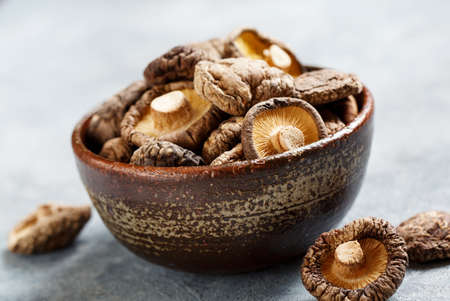 Photo for Dried shiitake mushrooms - Royalty Free Image