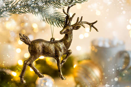 Foto de Christmas with festive decoration - Imagen libre de derechos