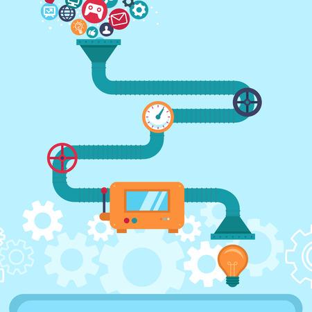Ilustración de Vector abstract infographics in flat style -creative idea generatir - Imagen libre de derechos