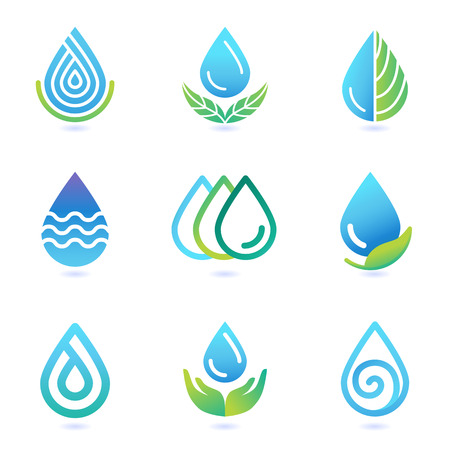 Illustration pour water and oil design elements  - image libre de droit