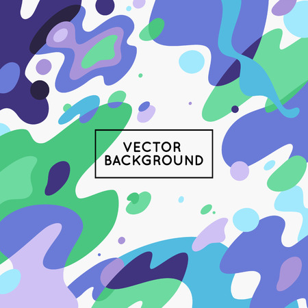 Illustration pour Vector decorative abstract background in trendy flat style with copy space for your text and artistic blots and stains - image libre de droit