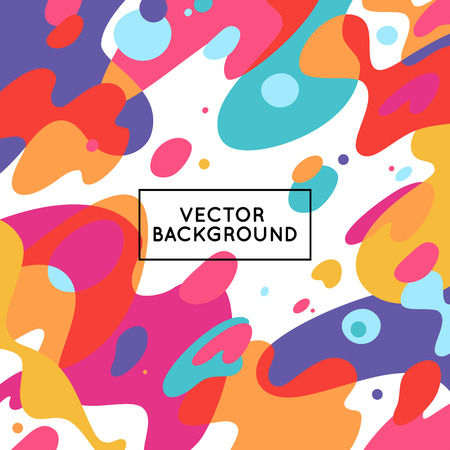Ilustración de Vector decorative abstract background in trendy flat style with copy space for your text and artistic blots and stains - Imagen libre de derechos