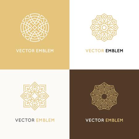 Illustration for Vector set of logo design templates - Royalty Free Image