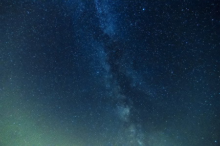 Photo pour milky way on night sky, abstract natural  - image libre de droit