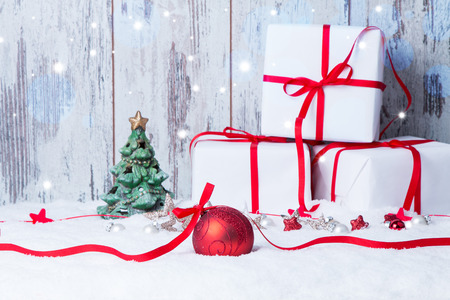 Foto de Christmas decoration Holiday background - Imagen libre de derechos