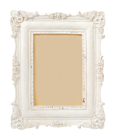 Photo for Vintage Plaster Frame isolated on white - Royalty Free Image