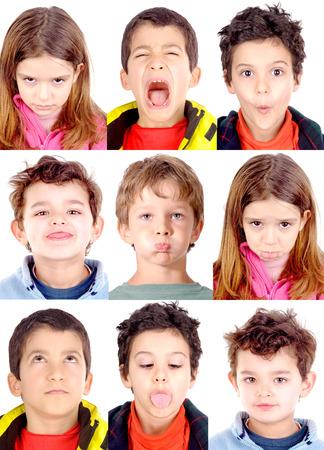 Photo pour little boy doing facial expressions - image libre de droit