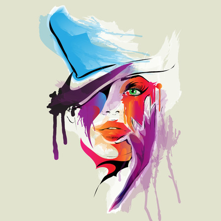 Photo pour Abstract woman face illustration - image libre de droit