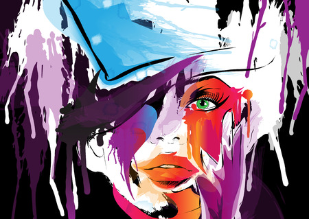 Illustration pour Abstract woman face.  - image libre de droit