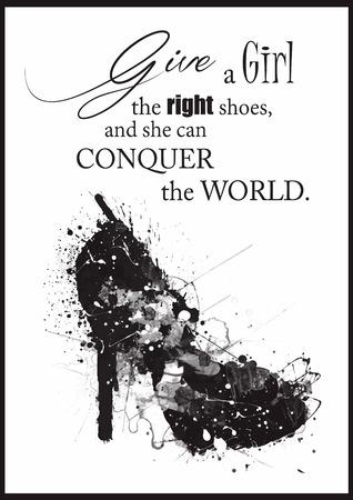 Ilustración de Fashion Woman shoe from quotes. - Imagen libre de derechos