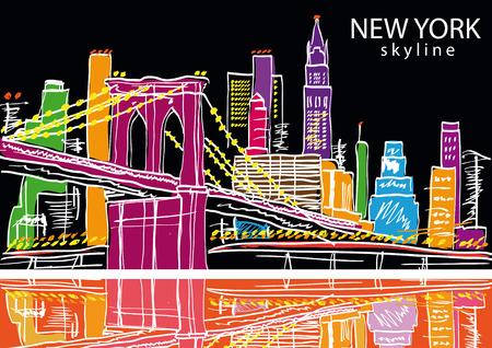 Illustration for New York city. Vector illustration - Royalty Free Image