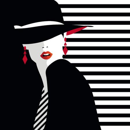 Illustration pour Fashion teenage girl illustration - image libre de droit