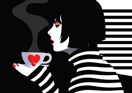 Illustration pour Fashion woman in style pop art. - image libre de droit