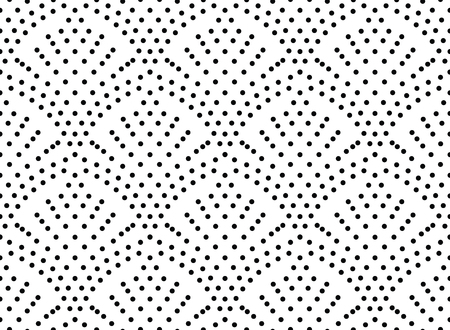 Illustration for Seamles dots pattern, polka dot seamles print, traditional oriental pattern of dots on a white background, seamless micro structure,  screen print texture, decorative background - Royalty Free Image