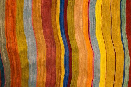 Foto de Bright colored stripes in different sizes. Fun, joy, good mood. Creativity, art, abstraction. - Imagen libre de derechos
