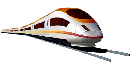 Isolated vector of modern high speed train