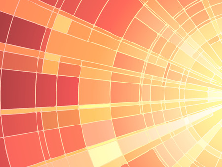 Illustration for Vector illustration of mosaic sun rays, stained glass window. - Royalty Free Image