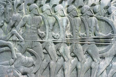 Photo pour Greek ancient alike plaque at Great Alexander monument at Thessaloniki, Greece - image libre de droit