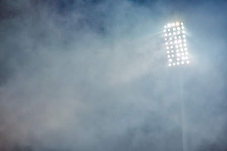 Photo for stadium lights and smoke - Royalty Free Image
