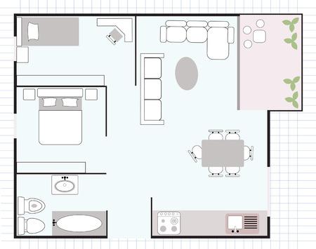 Illustration pour floor plan - image libre de droit