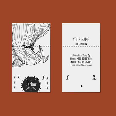 Ilustración de alternative design business cards for hairdresser  barber   - Imagen libre de derechos