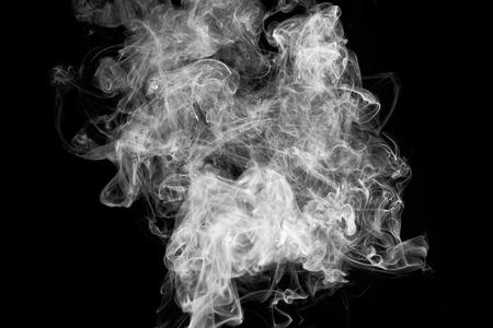 Photo pour movement of smoke on black background, smoke background, - image libre de droit