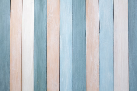 Photo for Pastel colors wooden wall background. Flat lay - Royalty Free Image