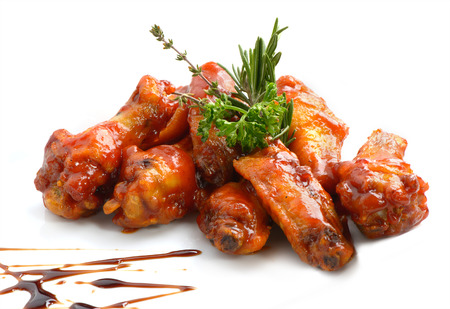 Photo for Chicken wings with barbeque sauce - Royalty Free Image